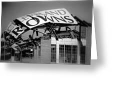 Goodbye Cleveland Stadium Greeting Card by Kenneth Krolikowski