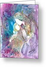 Goodnight Kiss Greeting Card by Deborah Nell