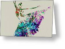 Gorgeous Ballerina Greeting Card by Naxart Studio