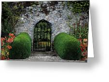 Gothic Entrance Gate, Walled Garden Greeting Card by The Irish Image Collection