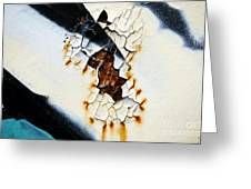 Graffiti Texture II Greeting Card by Ray Laskowitz - Printscapes