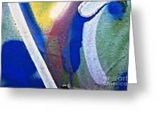 Graffiti Texture V Greeting Card by Ray Laskowitz - Printscapes