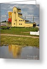 Grain Elevator In Balzac Alberta Greeting Card by Louise Heusinkveld
