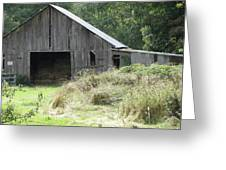 Gramma's Barn Greeting Card by Laurie Kidd