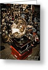 Gramophone Greeting Card by Gabriela Insuratelu
