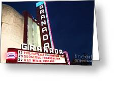 Granada Theater Greeting Card by Debbi Granruth