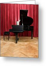 Grand Piano With A Champagne Cooler Greeting Card by Corepics