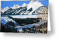 Grand Teton Greeting Card by Frederic Kohli