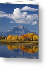 Grand Teton Xii Greeting Card by John Blumenkamp
