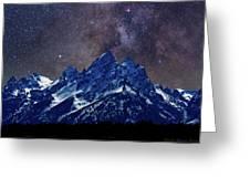 Grand Tetons Nights Greeting Card by Charles Warren