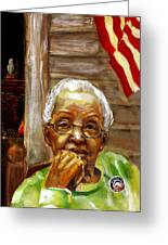 Grandma For Obama Greeting Card by Gary Williams