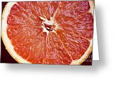 Grapefruit Half Greeting Card by Ray Laskowitz - Printscapes