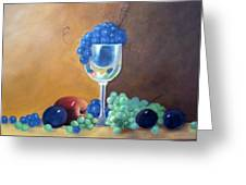 Grapes And Plums Greeting Card by Susan Dehlinger