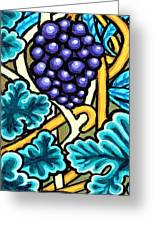 Grapes Greeting Card by Genevieve Esson