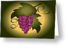 Grapes Greeting Card by Pam Beal