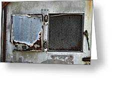 Grated Door Greeting Card by Murray Bloom