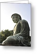 Great Buddha Of Kamakura Greeting Card by Andy Smy