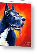 Great Dane Dog Portrait Greeting Card by Svetlana Novikova