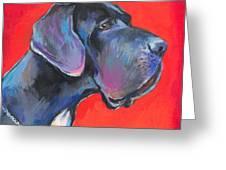 Great Dane Painting Greeting Card by Svetlana Novikova