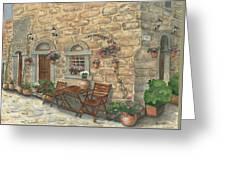 Grecian Charm Greeting Card by Marsha Elliott