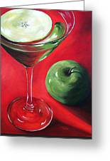 Green Apple Martini Greeting Card by Torrie Smiley