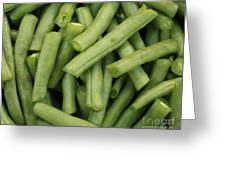 Green Beans Close-up Greeting Card by Carol Groenen
