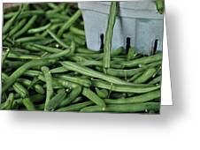 Green Beans Greeting Card by William Jones