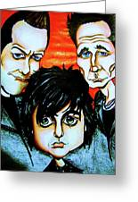 Green Day Greeting Card by Penny  Elliott