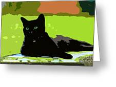 Green Eyes Greeting Card by David Lee Thompson