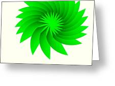 Green Flower Greeting Card by Michael Skinner