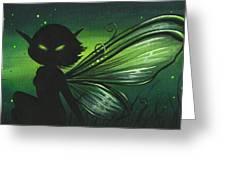 Green Glow Greeting Card by Elaina  Wagner
