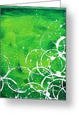 Green Riches By Madart Greeting Card by Megan Duncanson