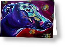 Greyhound -  Greeting Card by Alicia VanNoy Call