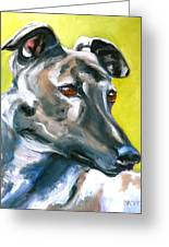 Greyhound Greeting Card by Susan A Becker