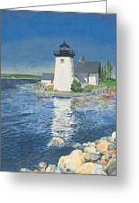 Grindle Point Light Greeting Card by Dominic White