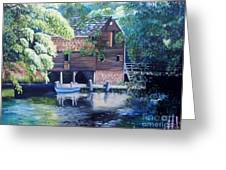 Grist Mill Philipsburg Ny Greeting Card by Marlene Book