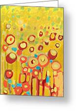 Growing In Yellow No 2 Greeting Card by Jennifer Lommers