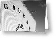 Gruene Hall Greeting Card by John Gusky