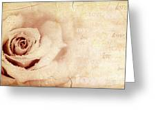 Grungy Rose Background Greeting Card by Anna Omelchenko