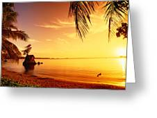 Guam, Agat Bay Greeting Card by Dave Fleetham - Printscapes