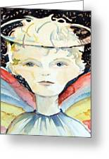 Guardian Angel Greeting Card by Mindy Newman