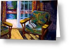 Guesthouse in Santa Fe Greeting Card by Sandra Ortega