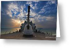 Guided-missile Destroyer Uss Higgins Greeting Card by Stocktrek Images