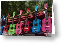 Guitars In Old Town San Diego Greeting Card by Anna Lisa Yoder
