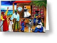 Gullah Christmas Greeting Card by Diane Britton Dunham