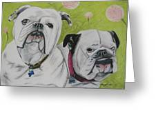 Gus and Olive Greeting Card by Michelle Hayden-Marsan