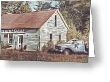 Gus Klenke Garage Greeting Card by Scott Norris