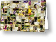Gustav's Quilt Greeting Card by RC DeWinter