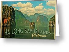 Ha Long Bay Islands Vietnam Greeting Card by Flo Karp