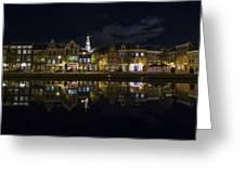 Haarlem Night Greeting Card by Chad Dutson